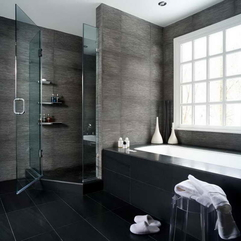 Bathrooms With Black Tiles Decorating Ideas - Karbonix