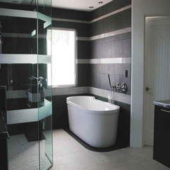 Bathrooms With Grey Wall Decorating Ideas - Karbonix