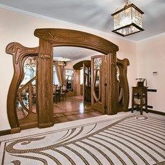 Beautiful Art Nouveau Carved Oak Wicket Door With Fantastic Art - Karbonix