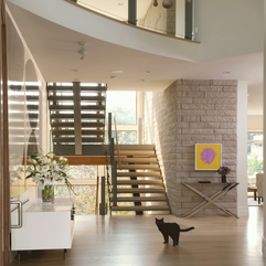 Beautiful Contemporary Stairs In Lines - Karbonix