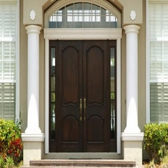 Beautiful Front Door Dark Wood - Karbonix