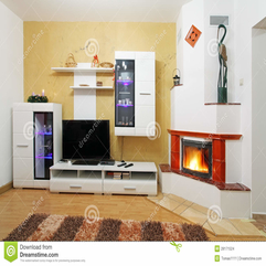 Beautiful Living Room With Fireplace Stock Images Image 28171524 - Karbonix