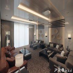 Beautiful Luxurious Modern Living Room High Ceiling - Karbonix
