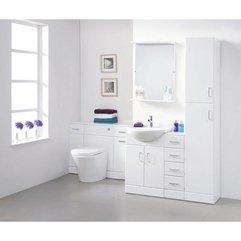 Beautiful White Bathroom Storage Unit Design Ideas In White Scheme - Karbonix