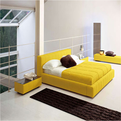 Bed Inspiration Modern Yellow - Karbonix