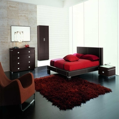 Bedroom Awesome Red Master Bedroom With Thick Dark Carpet And - Karbonix