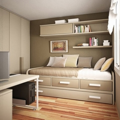 Bedroom Browsing Stylish Neutral Colored Small Bedroom Design - Karbonix