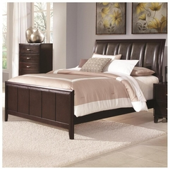 Bedroom Charming Bedroom Design Ideas With Dark Brown Leather - Karbonix