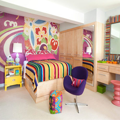 Bedroom Cheerful Colorful Bedroom Interior Designs Captivating - Karbonix