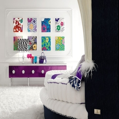 Bedroom Design With White Bed Inside Glamour - Karbonix