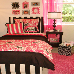 Bedroom Elegant Girl Apartment Bedroom Design In Pink Nuance With - Karbonix