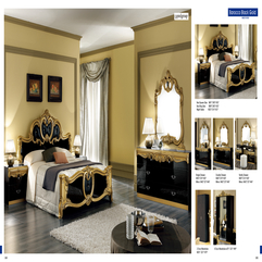 Bedroom Furniture Natural Bedrooms Barocco Black Wgold Trend - Karbonix