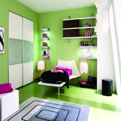 Bedroom Ideas With Shelf Hanging Lime Green - Karbonix