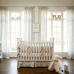 Bedroom Lovely Ivory Solid Three Pieces Crib Bedding Set On White - Karbonix