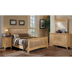 Bedroom Nice Looking Natural Woods Mirrored Bedroom Furniture - Karbonix
