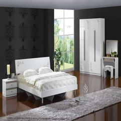 Bedroom Small Bedroom Design With Modern White Bed Frame And - Karbonix
