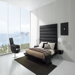 Black And White Bedroom Modern Minimalist - Karbonix