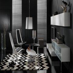 Black Living Room Design In Modern Style - Karbonix