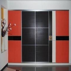 Black Sliding Closet Door Red - Karbonix