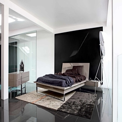 Black White Bedroom Modern Minimalist - Karbonix