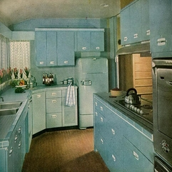 Blue 1960 S Kitchen Full Soft - Karbonix
