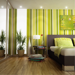 Bold Striking Striped Wall Painting In Green - Karbonix