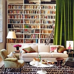 Bookshelves With Curtains Apartment Therapy - Karbonix