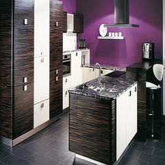 Brazilian Zebra Wood Purple Kitchen - Karbonix