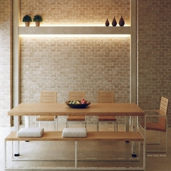 Brick Dining Room Bench Neutral Exposed - Karbonix
