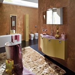 Best Inspirations : Brown As Base Color Luxurious Bathroom - Karbonix