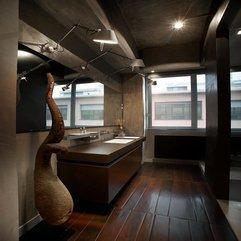 Brown Cabinets White Washbasin - Karbonix