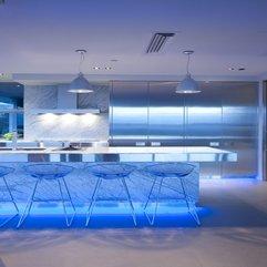 Captivating Modern Kitchen With Blue Color - Karbonix