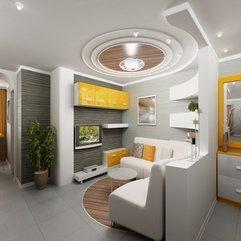 Ceiling Interior Layout Modern Round - Karbonix