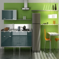 Chic And Stylish Modern Modern Kitchen With Green Color - Karbonix