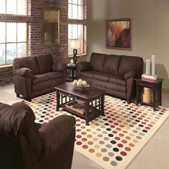 Chic And Stylish Modern Modern Living Room With Brown Color - Karbonix