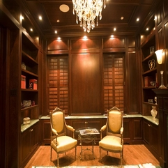 Chic Custom Home Library - Karbonix