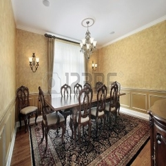 Chic Idea For Elegance Dining Room Decor With Large Table In - Karbonix