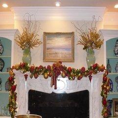 Christmas Decoration Fireplace Mantel - Karbonix