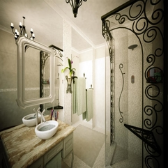 Classic Bathroom Design With The Touch Of Retro Stone Marble AZnyc - Karbonix
