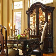 Classy Beautiful Dining Room Idea Glass Wood Buffet Cabinet - Karbonix