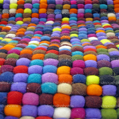 Colorful Fabric Turkish Silk Carpet Stock Image Fmua09 - Karbonix