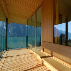 Combination Of Wood Glass In A Woode House Exterior Design Looks Cool - Karbonix