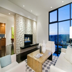 Comfortable White Sitting Room In Modern Style - Karbonix