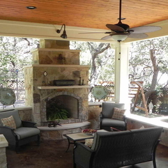 Common Design Build Outdoor Porches With Fireplaces - Karbonix