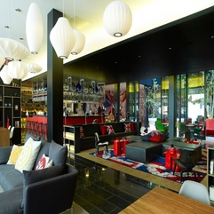 Completed With British Flag Interior Luxurious Bar - Karbonix