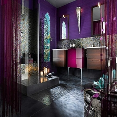 Contemporary Bathroom Decorating Ideas Amazing Purple - Karbonix