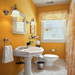 Contemporary Bathroom Decorating Ideas Cool Orange - Karbonix