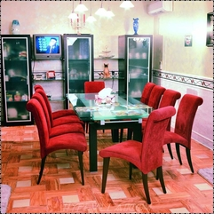 Cool French Dining Room Design With Modern Glass Dining Table That - Karbonix