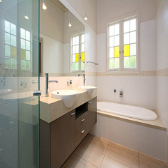 Creamy In Bathroom Combination White - Karbonix