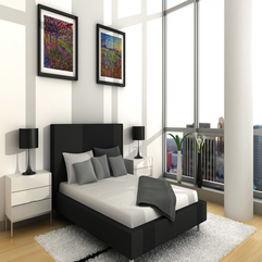 Creative Bedroom Decoration With Smart Furniture And Paintings - Karbonix